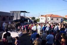 """Inauguração da escultura """" Toiro no 1º Estado"""""""